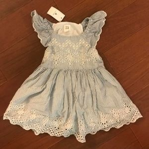 Baby Gap New NWT Eyelet Ruffle Dress with Bloomers